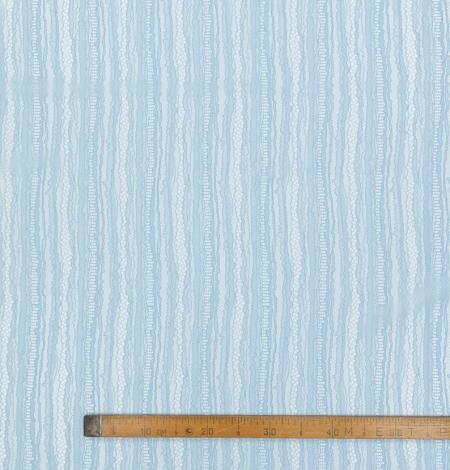 Gaiši zils abstrakts līniju chanttilly mežģīņu audums. Photo 8