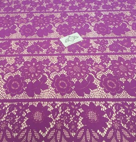 Purple lace fabric. Photo 4