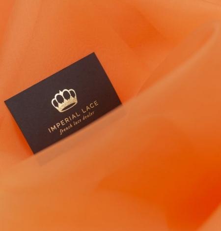Oranžs zīda organzas audums. Photo 6