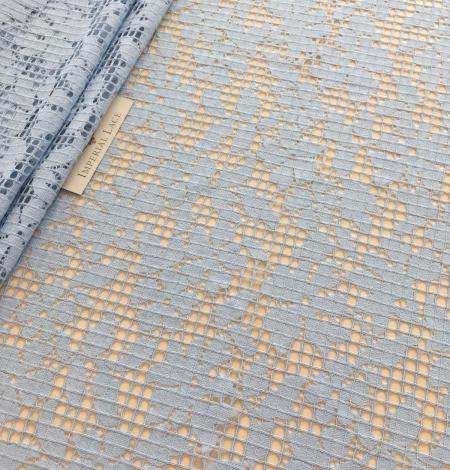 Blue lace fabric. Photo 5