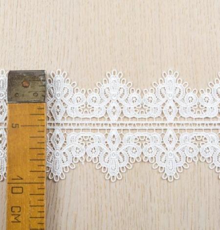 Piena balta figūru macrame mežģīņu apdare. Photo 7