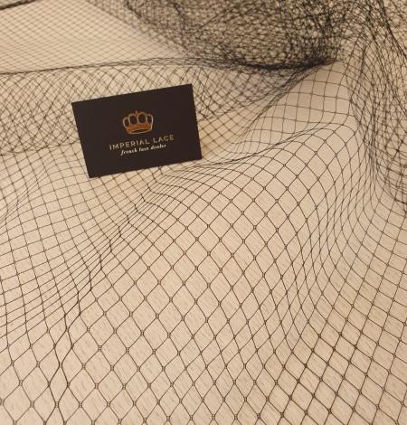 Melnas cepures tīkla tilla audums. Photo 1