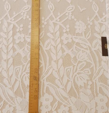 Ziloņkaula puķaina Chantilly mežģine. Photo 12