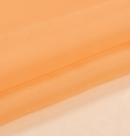 Oranžs zīda organzas audums. Photo 5