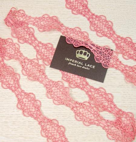 Koraļļu rozā macrame mežģīņu mala. Photo 7