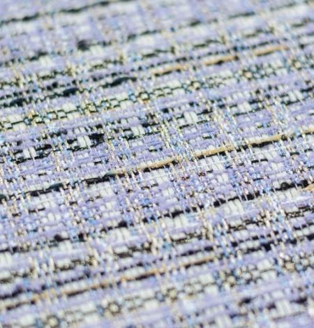 Violets ar zilu nokrāsu ar daudzkrāsainu tvīda audumu. Photo 3