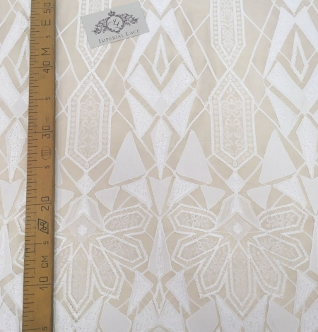 White Lace Fabric, French Lace. Photo 3