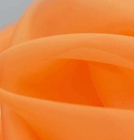 Oranžs zīda organzas audums. Photo 8