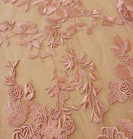 Veci rozā puķains raksts uz tilla auduma. Photo 5