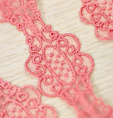 Koraļļu rozā macrame mežģīņu mala. Photo 5