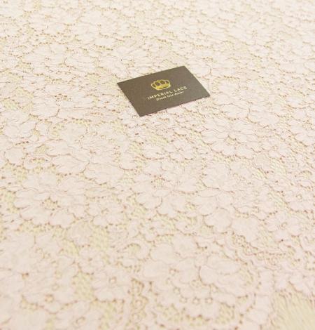 Rozā ziedu raksta guipure mežģīņu audums. Photo 1