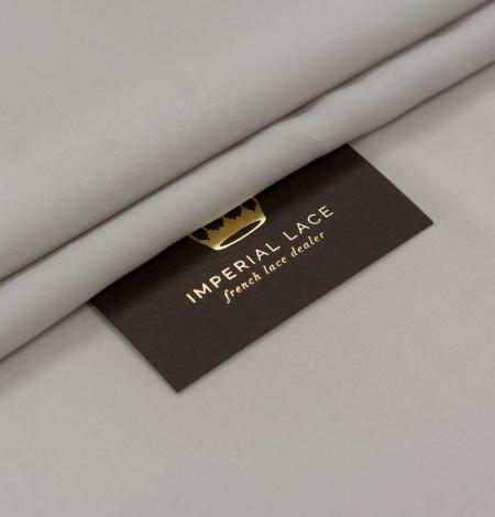 Gaiši pelēks Mulberry zīds ar elastāna krepa audumu. Photo 1