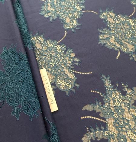 Dark lilac lace fabric. Photo 4