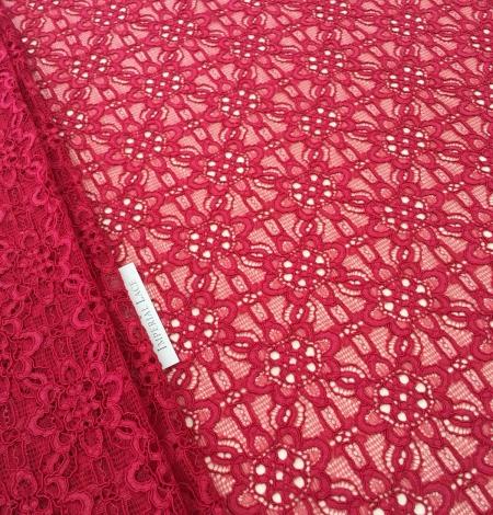 Pink lace fabric. Photo 5