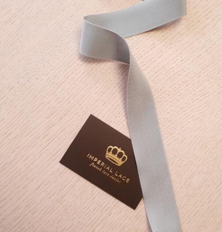 Gaiši pelēcīgi zila grosgrain lente. Photo 1