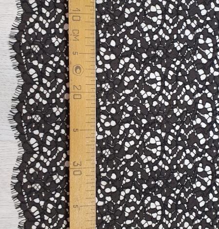 Dark brown guipure lace fabric. Photo 6
