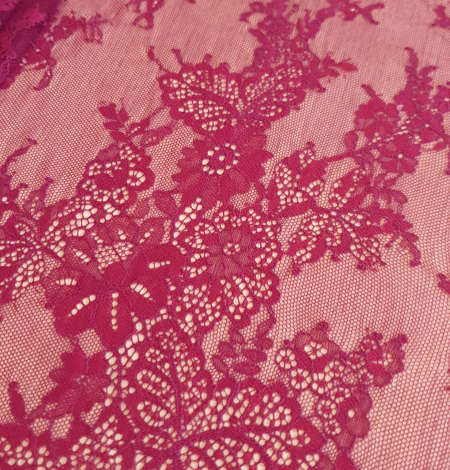 Tumši Sarkana Chantilly Mežģīne. Photo 4