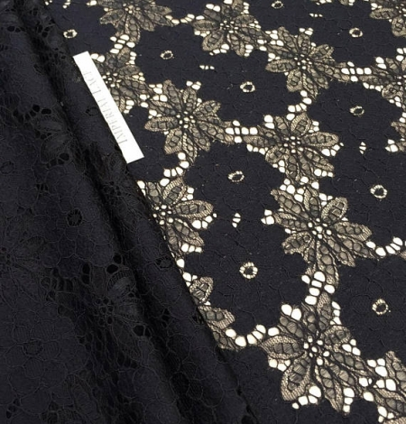 Black Lace Fabric. Photo 4