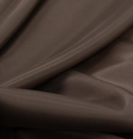 Brūns viskozes ar elastānu oderes audums. Photo 6