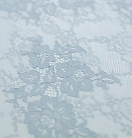 Baložu zils ziedu raksta chantilly mežģīņu audums. Photo 4