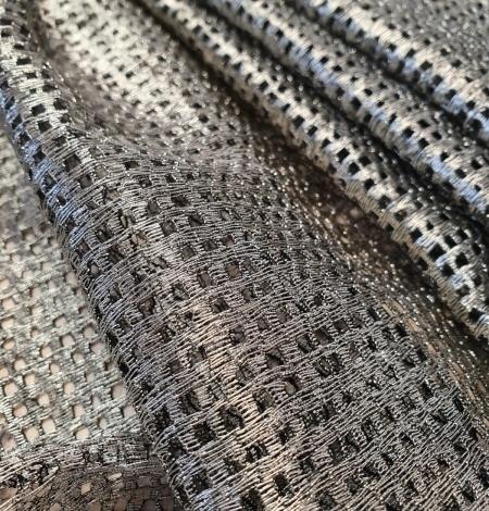 Metallic color guipure lace fabric . Photo 6