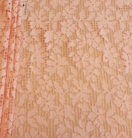 Rozā puķaina un rūtaina biezā mežģīne. Photo 2