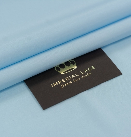 Zils zīds ar elastānu satīna audums. Photo 1