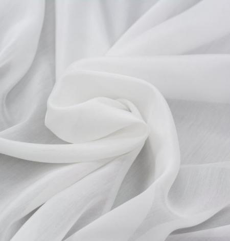 Piena balts organzas šifona audums. Photo 5