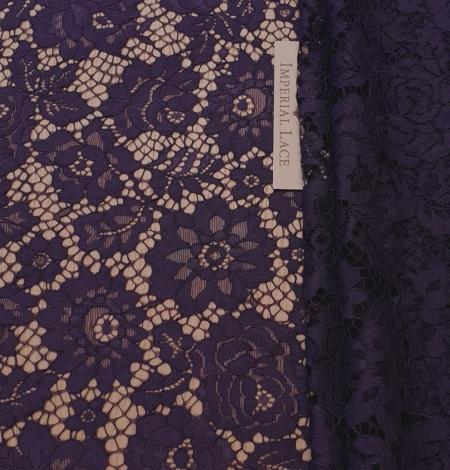 Lilac guipure lace fabric. Photo 2