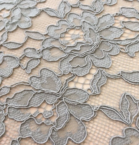 Pistachio lace fabric. Photo 4