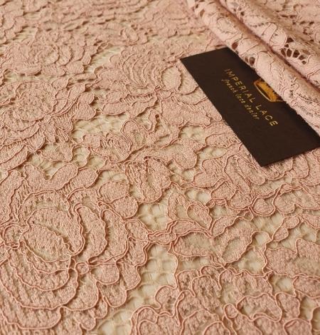 Nude guipure lace fabric. Photo 4
