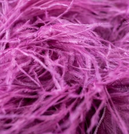 Aveņu rozā naturālas strausa spalvas. Photo 3