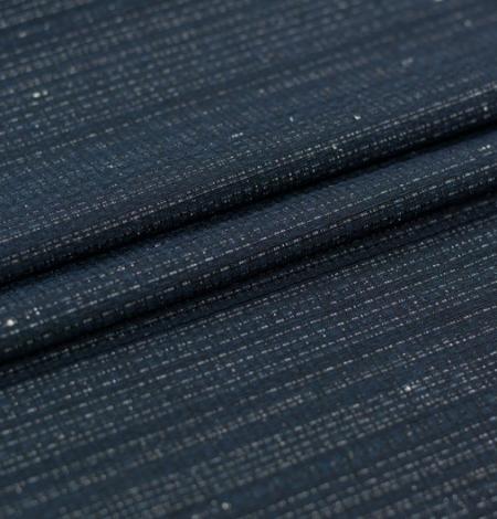 Tumši zils ar sudraba diegu žakarda audumu. Photo 5