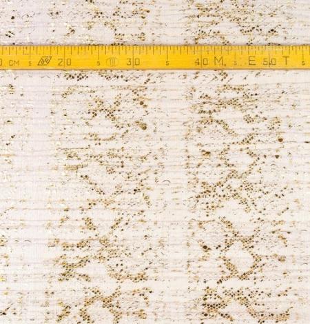 Lillā ar zelta foliju gofrēts tilla audums. Photo 8