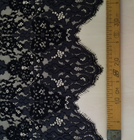 Black with grey lace fabric. Photo 4