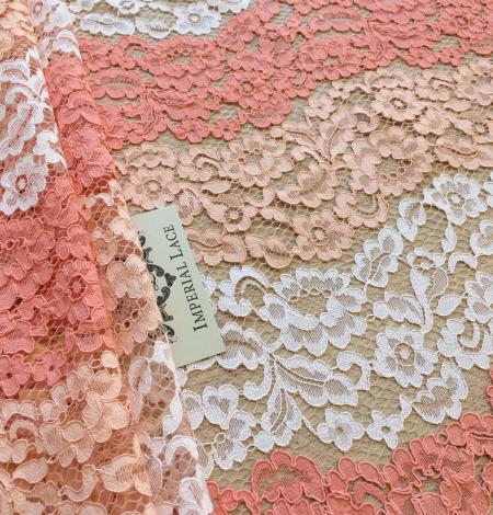 Multicolor lace fabric. Photo 5