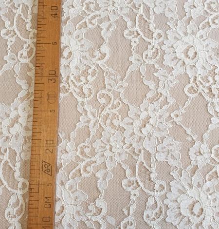 Champagne guipure lace fabric. Photo 6