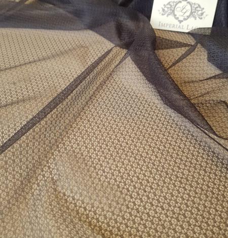 Tumši pelēks ar geometrisko zīmējumu tilla audums. Photo 3