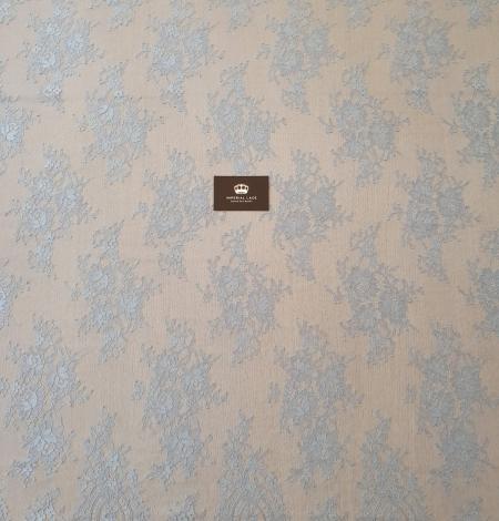 Zili pelēka Puķaina Cantilly mežģīne. Photo 6