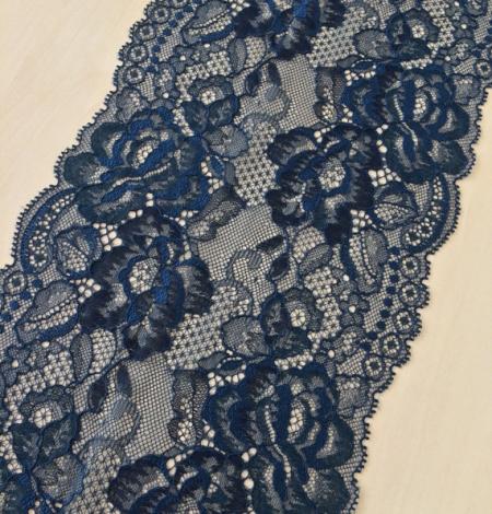Tumši zila ar tirkīzas nokrāsas mežģīņu apdari. Photo 1