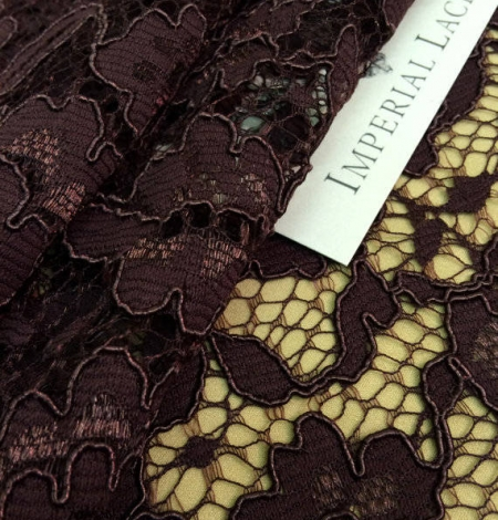 Brown lace fabric. Photo 2