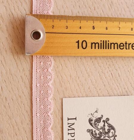 Gaiši rozā chantilly mežģīnes apdares lente. Photo 6