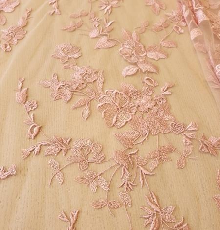 Veci rozā puķains raksts uz tilla auduma. Photo 7