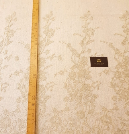 Ziloņkaula ar Zeltu Chantilly mežģine. Photo 12