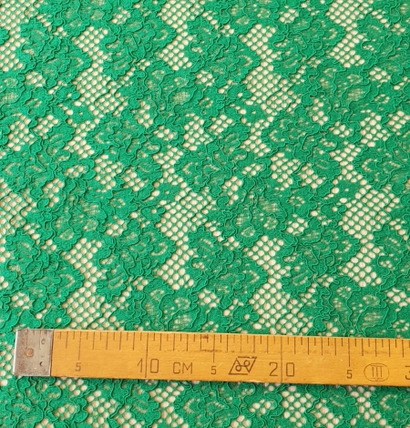 Green guipure lace fabric. Photo 9