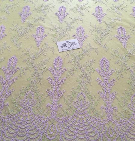 Zaļa ar Lavandu Chantilly Mežģīne. Photo 2