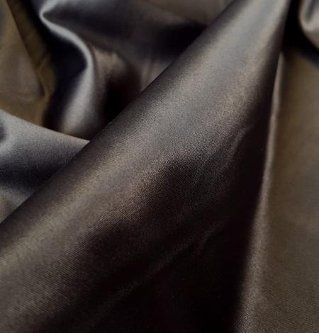 Tumši pelēks satīna audums ar elastānu. Photo 3