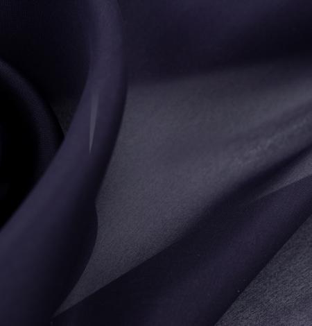 Lillīgi zils bieza zīda organzas audums. Photo 4
