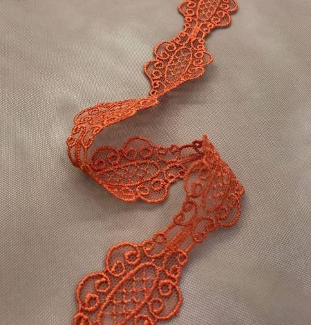Oranža macrame mežģīņu apdare. Photo 2