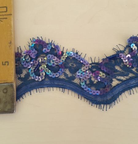 Zila mežģīnes maliņa ar fliteriem. Photo 5